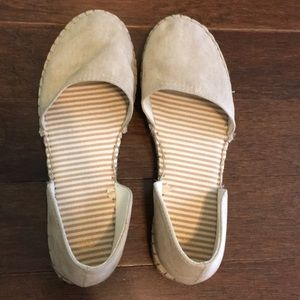 Nude colored slip on's